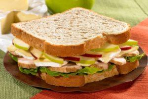 gesundes Frühstück Sandwich
