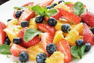 schnell und gesund essen - Obstsalat