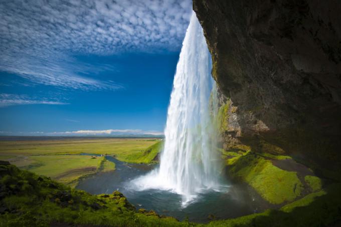 Wasserfall-Seljalandsfoss-Island