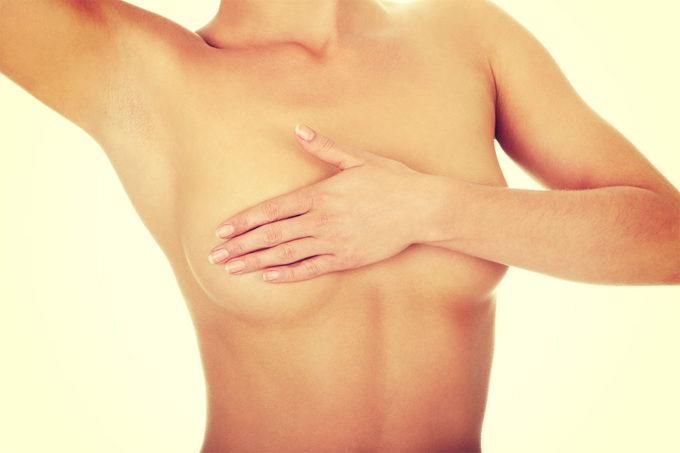 Spitze Brust mit 16