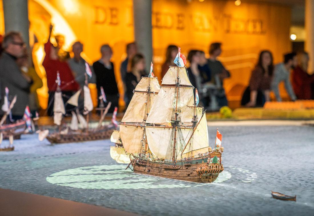 Die Reede von Texel. Eine interaktive Ausstellung erweckt Seefahrthistorie zum Leben.