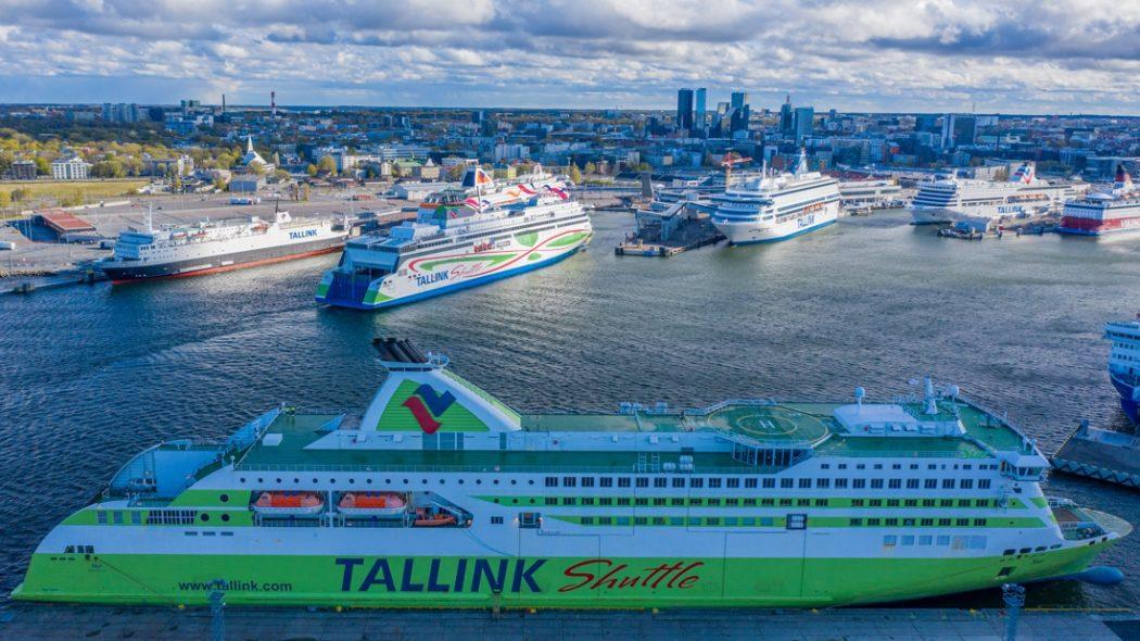 Alle Tallink Schiffe nach 4 Monaten wieder das erste Mal am gleichen Tag auf der Ostsee unterwegs