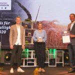Verleihung des Lammsbräu Nachhaltigkeitspreises 2020 an den Outdoor-Ausrüster VAUDE aus Tettnang